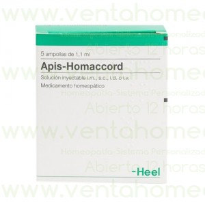 APIS HOMACCORD 5 AMPOLLAS 1,1 ML