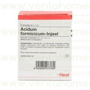ACIDUM FORMICICUM INJEEL 5 AMPOLLAS 1,1 ML