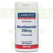 LAMBERTS Nicotinamida 250 mg Vitamina B3 100 TABLETAS