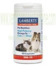 LAMBERTS Omega 3 para Gatos y Perros 120 CAPSULAS