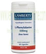 LAMBERTS L-Fenilalanina 500 mg 60 CAPSULAS