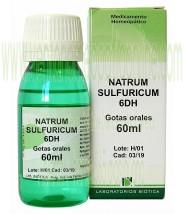 NATRUM SULFURICUM 6DH GOTAS 60ML