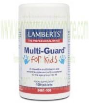LAMBERTS  MultiGuard® para Niños. Vitaminas y Minerales  100 TABLETAS
