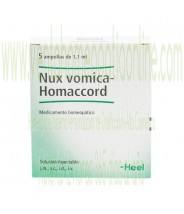 NUX VOMICA HOMACCORD 5 AMPOLLAS 1,1 ML