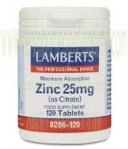 LAMBERTS Zinc 25 mg 120 TABLETAS